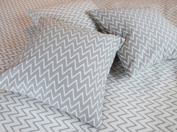 Bedspread grey and white