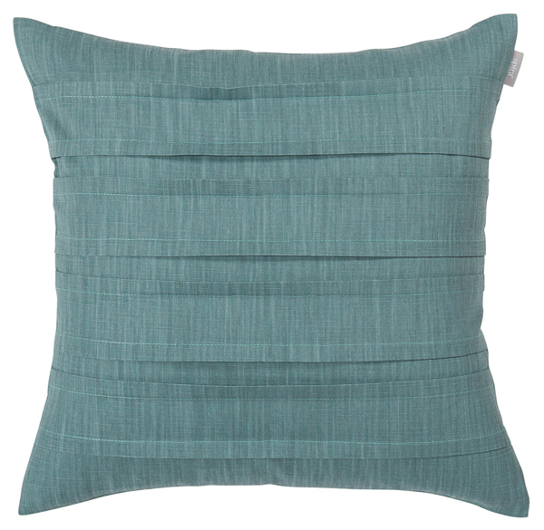 Cushion cover in smokey blue-green