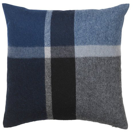 Elegant cushion cover in luxurious alpaca wool in blue