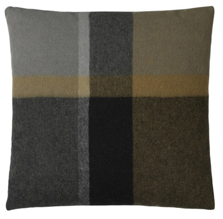 Elegant cushion cover in luxurious alpaca wool in ochre yellow-brown