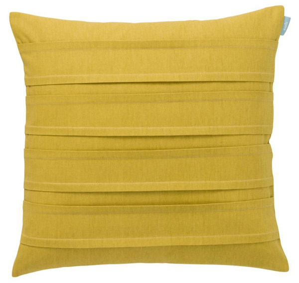 Trendy cushion cover in mustard yellow