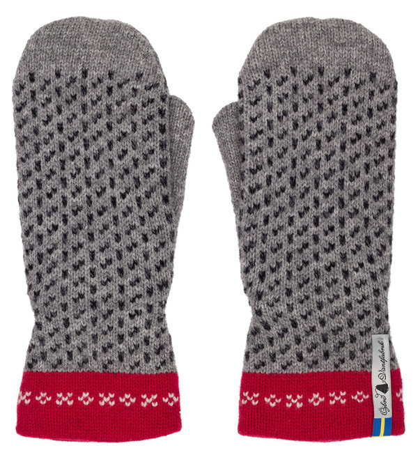 Very warm mittens in merino wool, Skaftö Grey